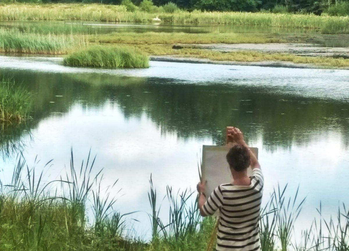 Landskapsmålning vid Christinehofsslott