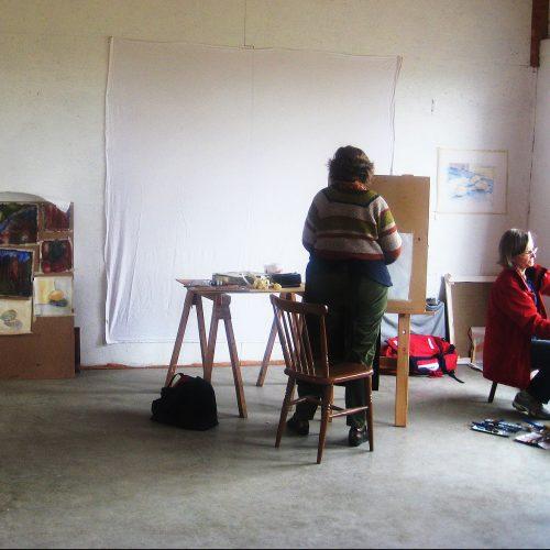 Arbete i ateljén