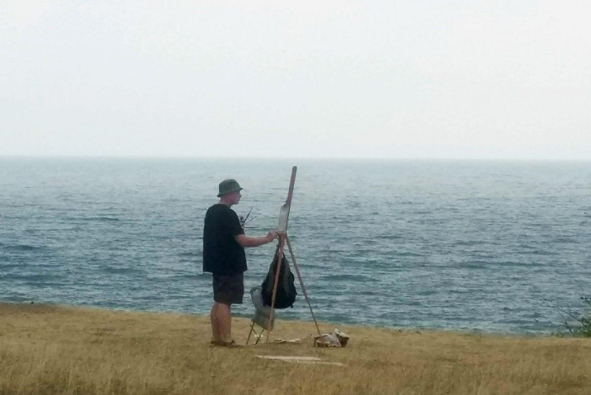 Landskapsmålning vid Haväng