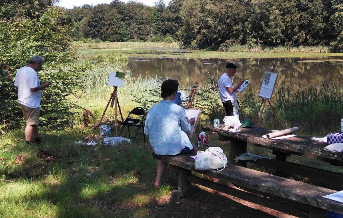 Landskapsmålning vid Christinehofs ekopark