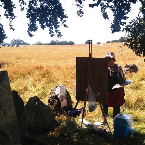 Landskapsmålning på Haväng