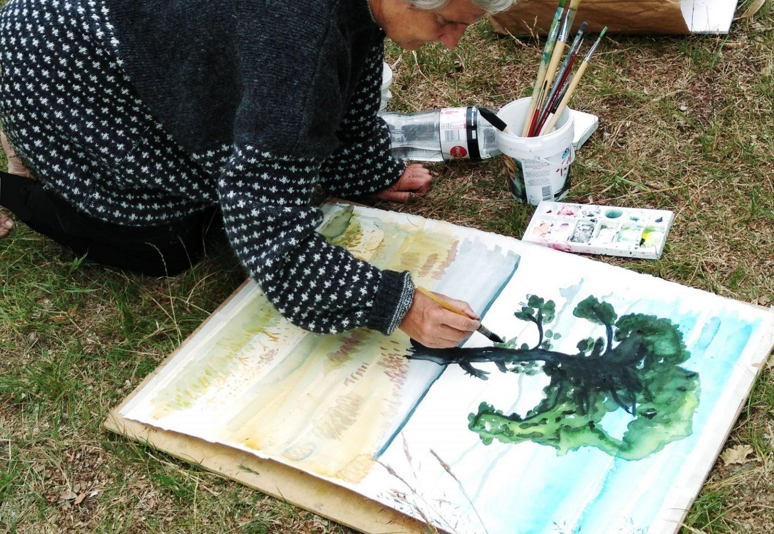Akvarell - Tuxch - Akryl